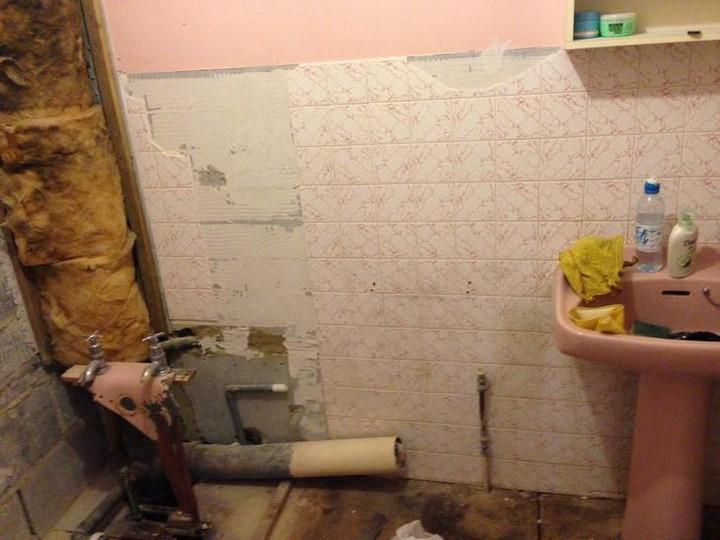 санузел во время ремонта