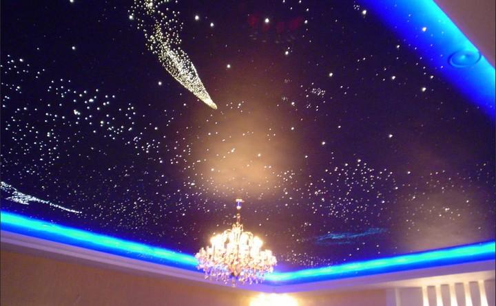 Цветной натяжной потолок «Звездное небо»