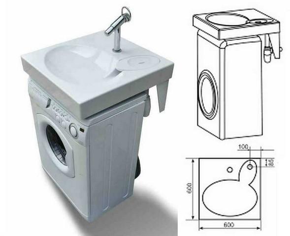 Комплект «стиральная машина плюс раковина»