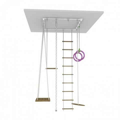 Навесной комплекс с веревочной лестницей, тарзанкой, качелями