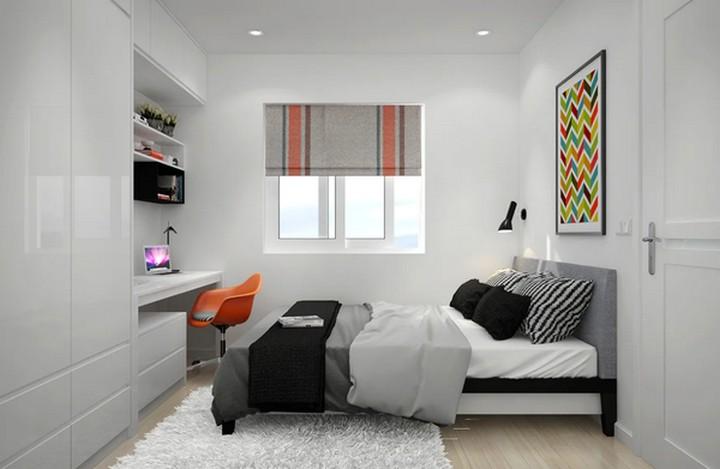 узкая спальня 3D
