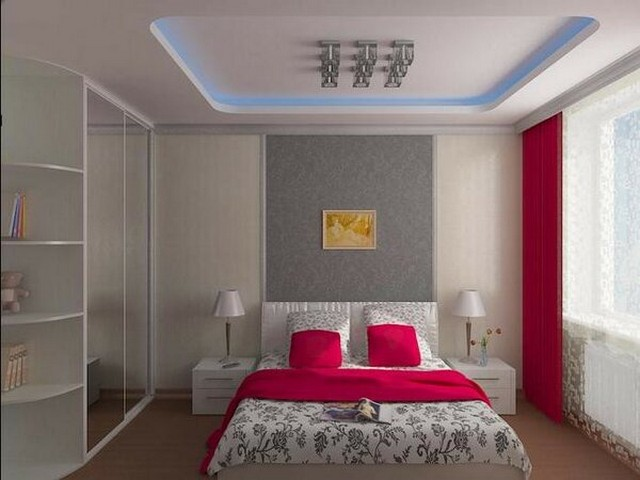 просторная спальня 3D