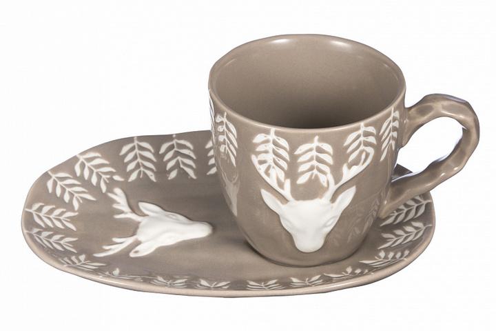 Кружка для кофе с блюдцем