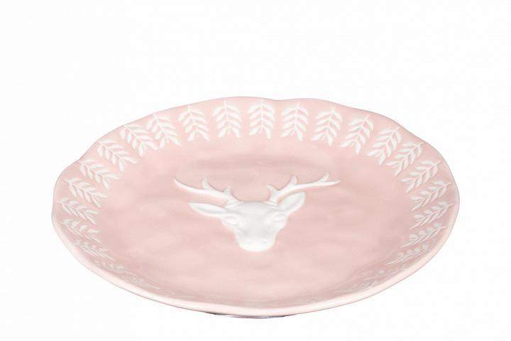 Тарелка из фарфора с рисунком