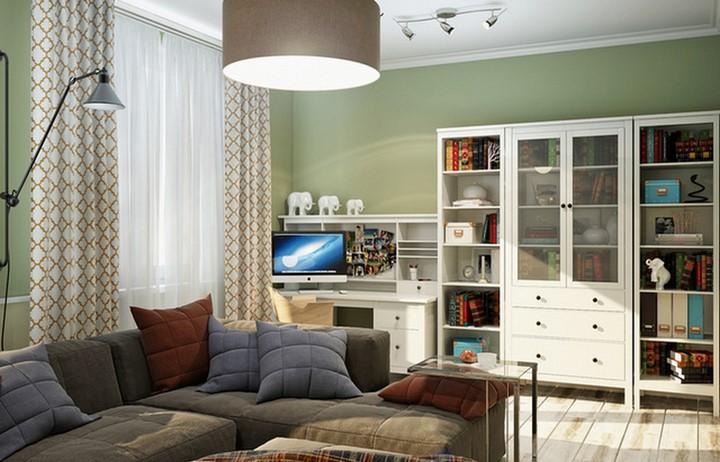 Дизайн-проект гостиной в пастельных тонах, Remelle