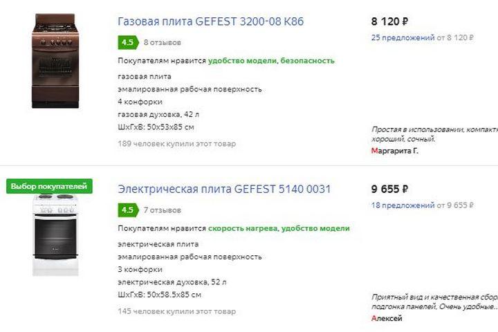 Цены на не встраиваемую технику от 19.09.2019