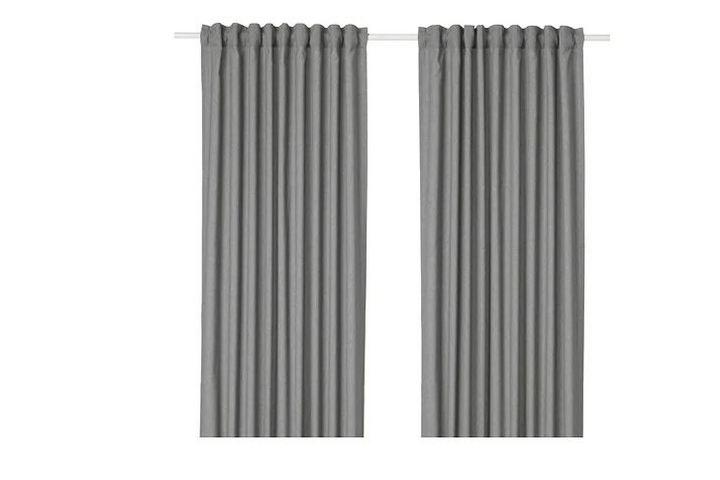 Плотные шторы серого цвета