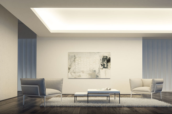 Потолочное освещение по технологии закарнизной подсветки