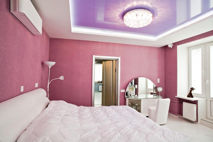 Цветовое сочетание стен и потолка
