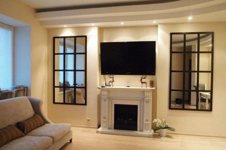 Витражные зеркала имитирующие окна