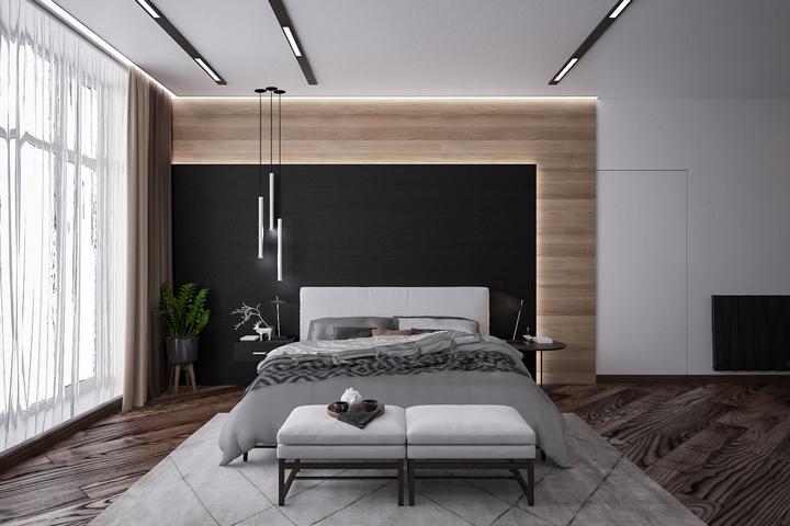 Декор с помощью ламината на стене