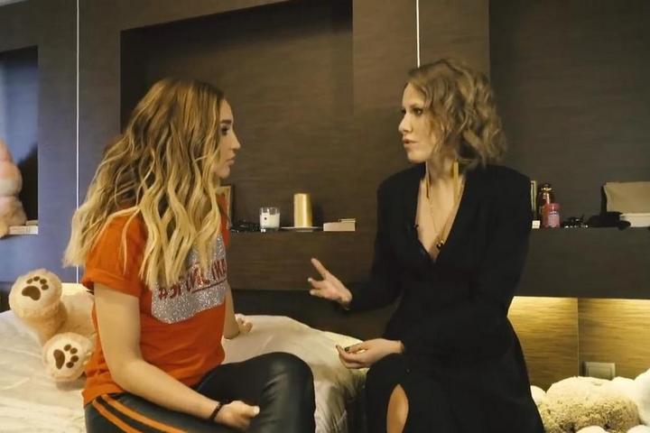 Спальня Бузовой – кадр из интервью с Собчак