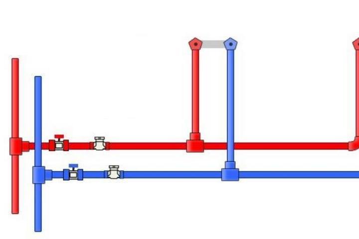Тройниковая схема водопровода