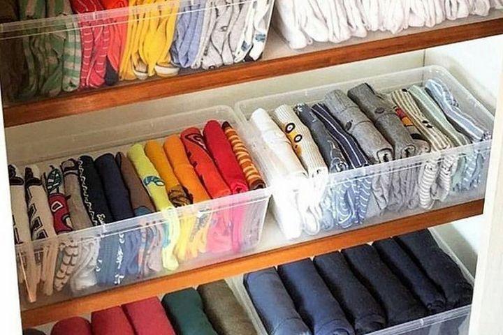 Раскладка одежды ребро вверх
