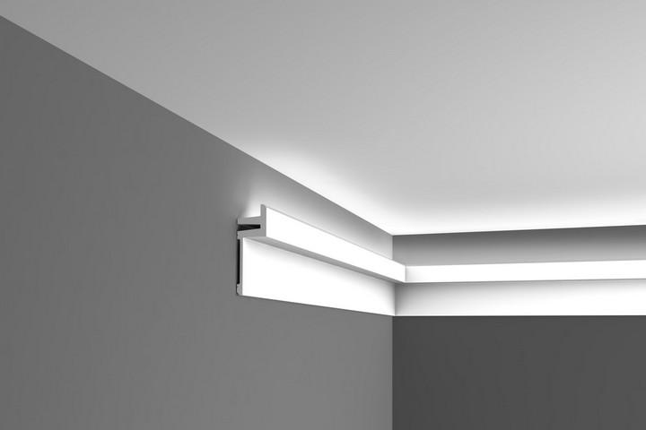 Монтаж закарнизной подсветки на стене