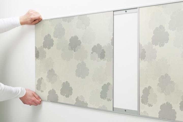 Кухонный фартук установленный на алюминиевые профили