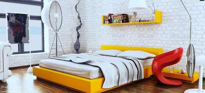 Спальня с акцентами для овна