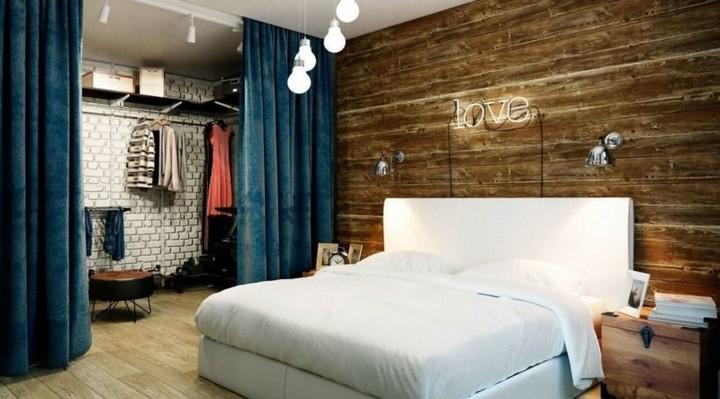 Спальня в стиле лофт для стрельцов
