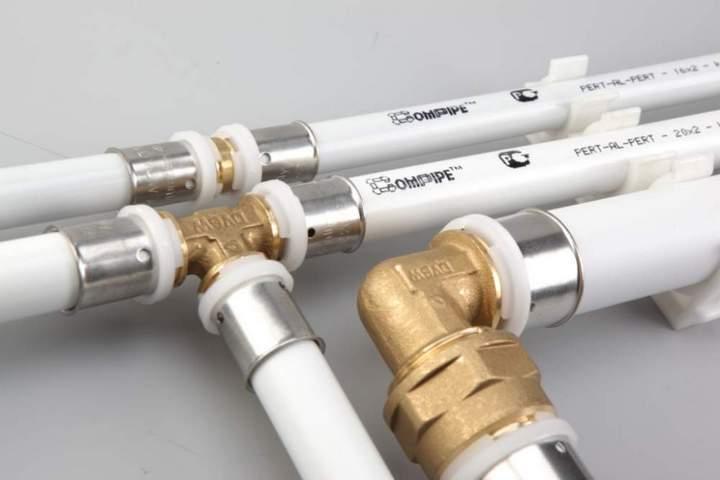 Собранная система из металлопластиковых труб