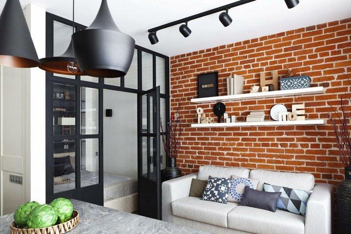 Кирпичная стена - классический атрибут лофта