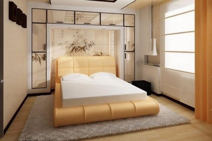 Визуализация японского стиля к спальне