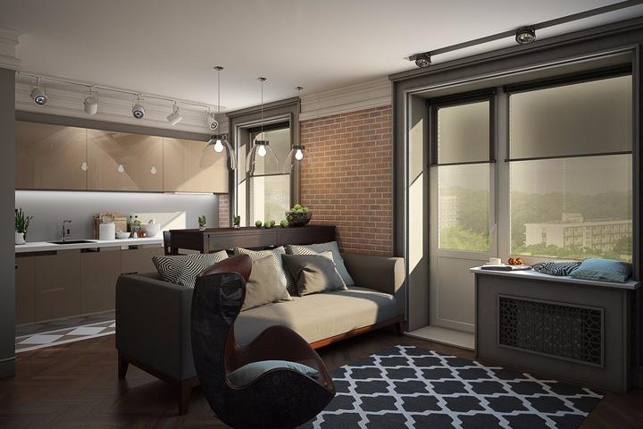 Открытая планировка квартиры