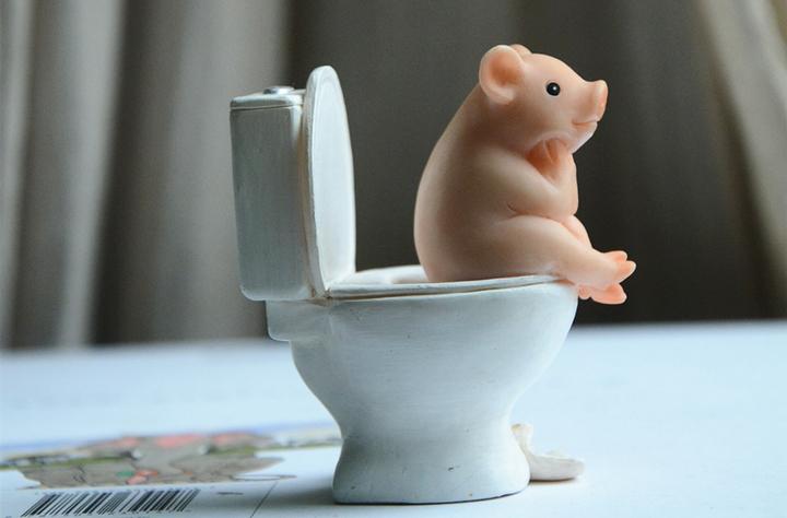 Фигурка свинки на инсталляции