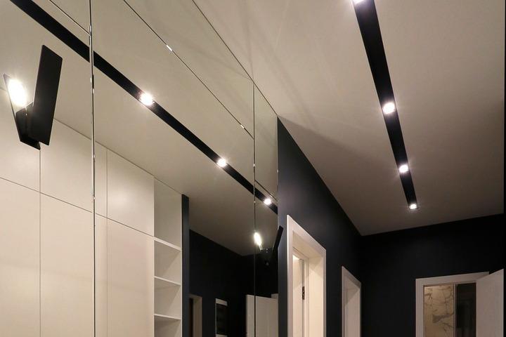 Потолочное освещение в коридоре