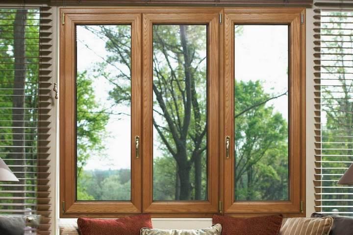 Дубовые окна в квартире