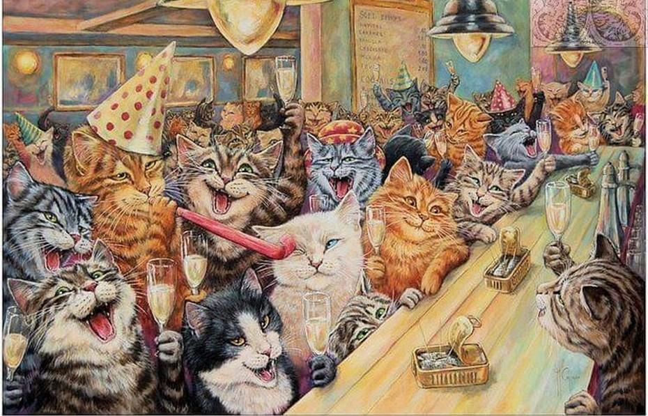 Коты веселятся