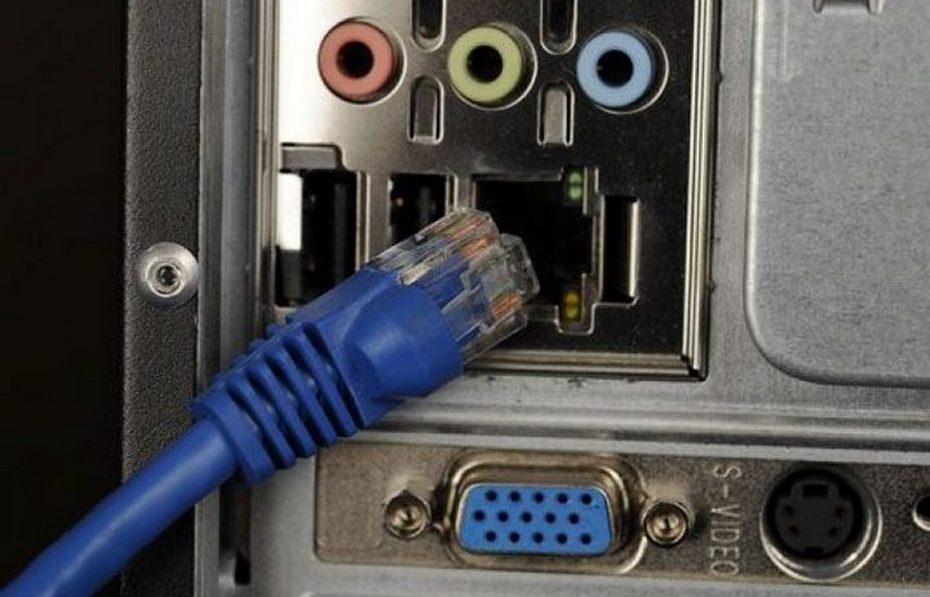 Подключение кабеля витой пары к компьютеру