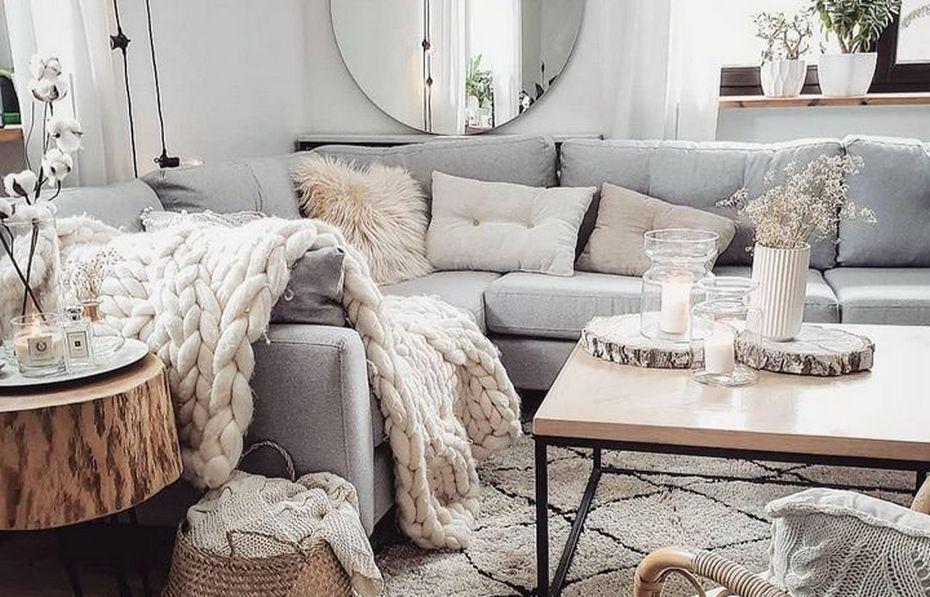 Нейтральная отделка и пастельные цвета мебели и декора