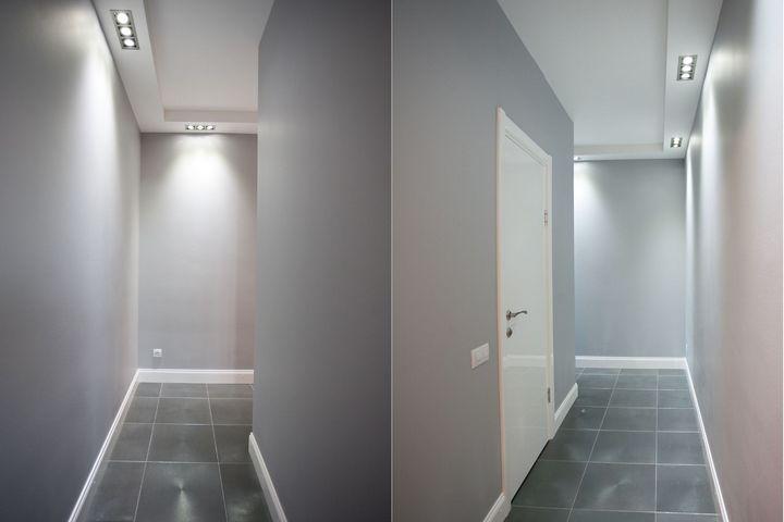 Футуристичный коридор в современном интерьере