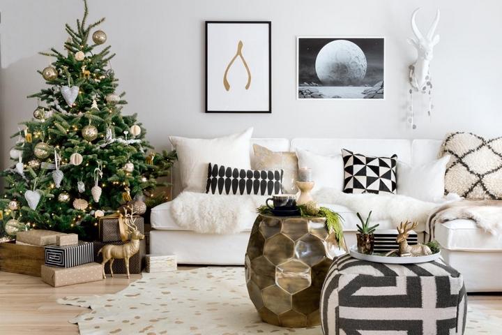 Новогоднее оформление в скандинавском стиле