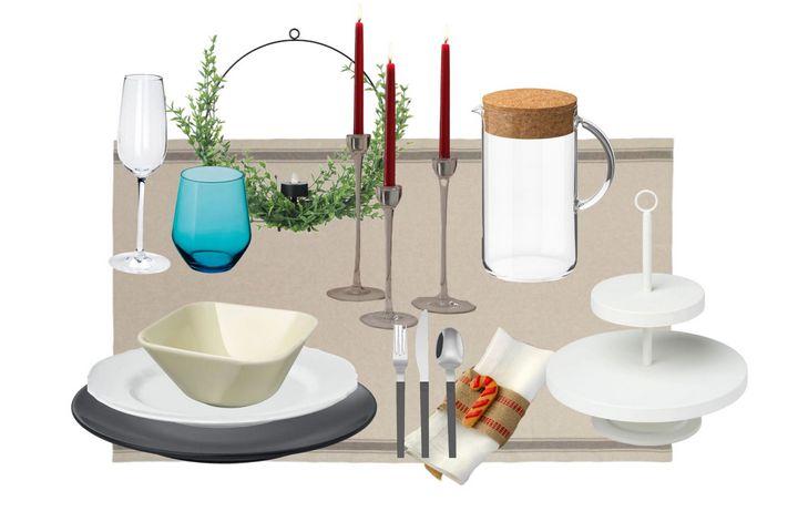 Праздничная сервировка в скандинавском стиле