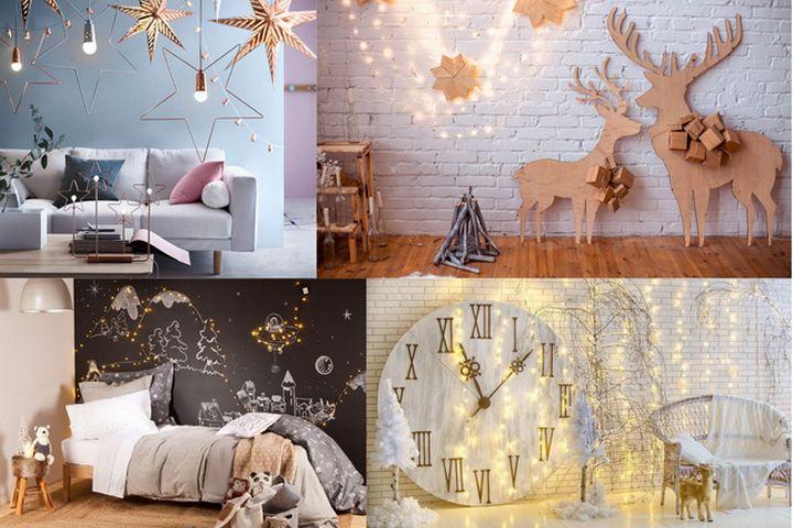 Украшение стен сверкающим и переливающимся декором