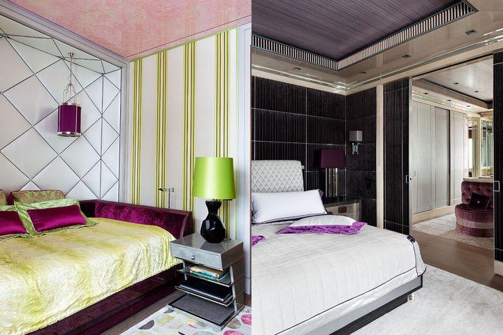 Слева — спальня Анны; Справа — главная спальня Иосифа и Валерии