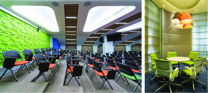 Конференц-зал в зеленом цвете