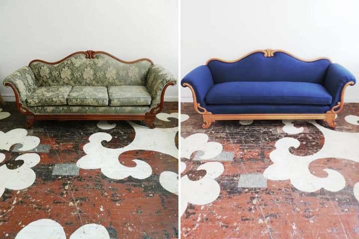 Вариант переобивки старого дивана