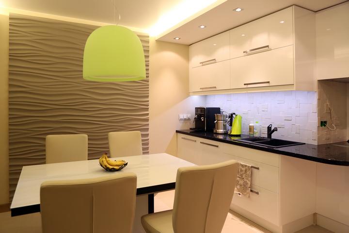 Экологичный интерьер кухни-столовой