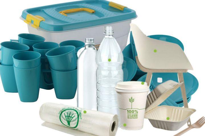 Многоразовая пластиковая посуда и перерабатываемый пластик