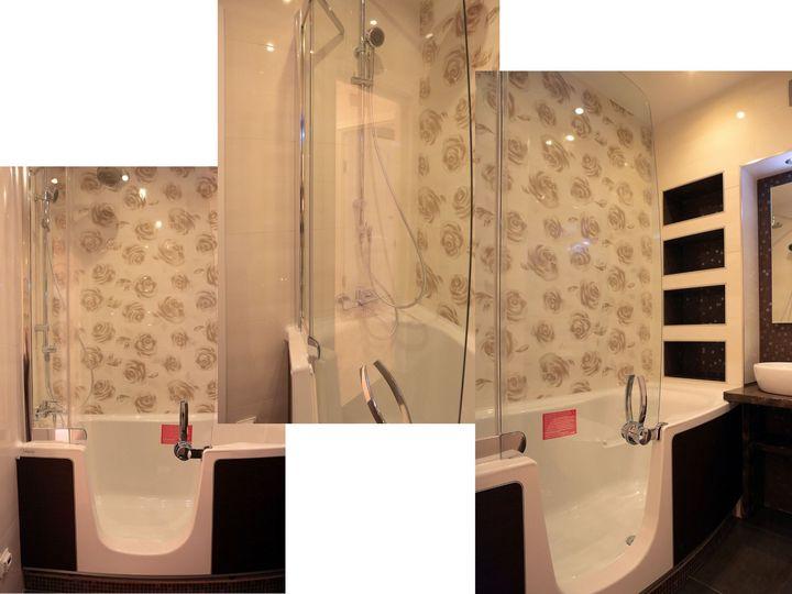 Конфигурация комбинированной ванны+душ