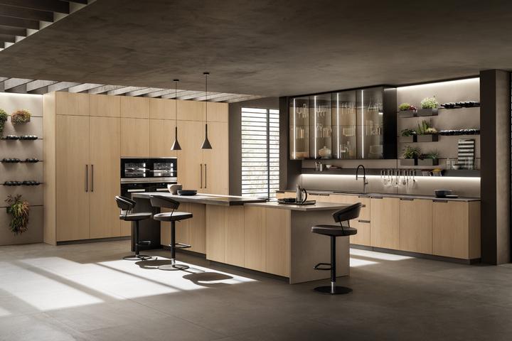 Кухня в светлом деревянном оформлении