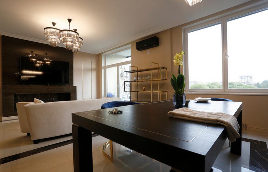 Гостиная в квартире в современном стиле ар-деко