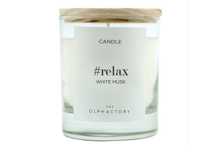 Свеча с ароматом белого мускуса