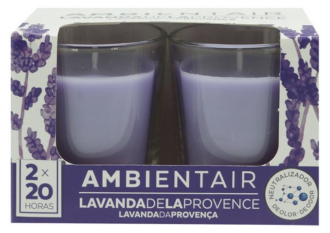 Свечи с запахом лаванды против стресса
