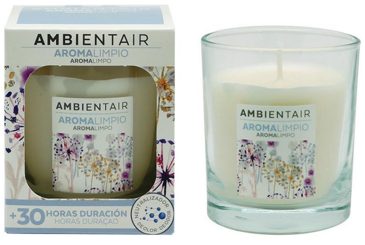 Ароматическая свеча с ароматом хлопка
