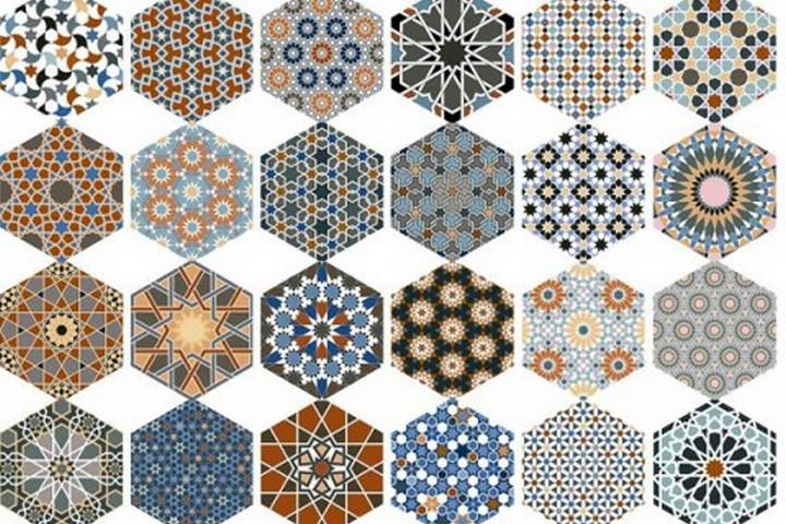 24 вида узора плитки