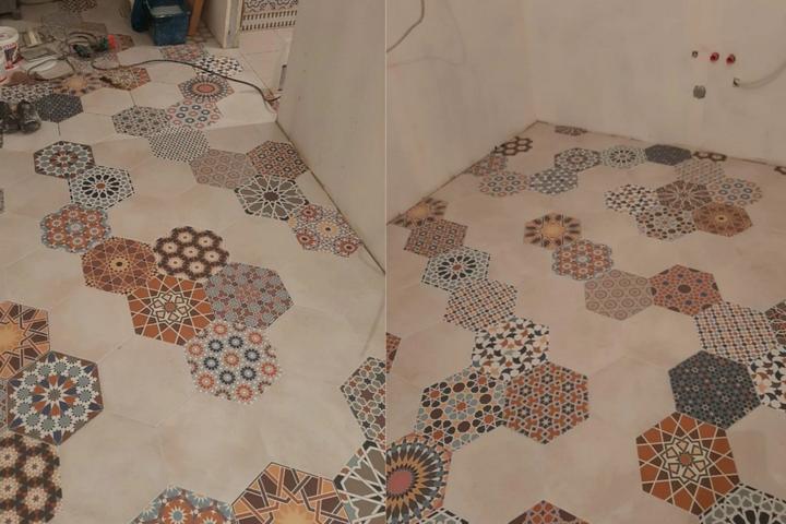 Многогранная плитка на напольного покрытия