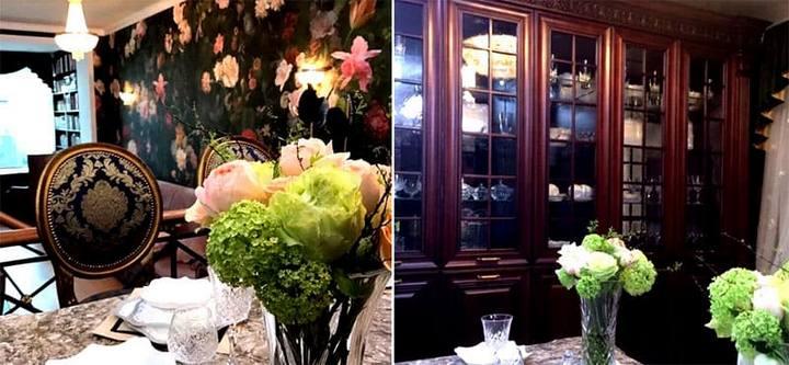 Винтажная мебель и цветочные обои